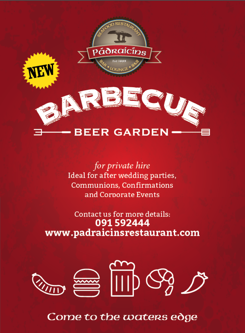 BBQ & Beer Garden Now Available At Pádraicíns